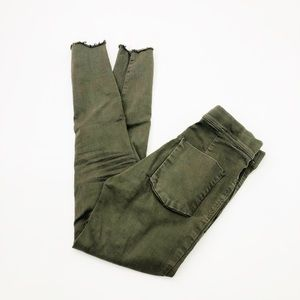 Free People Green Skinny Jeans/Pants